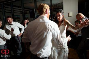 Wedding guest dance as Greenville wedding Dj ProsOnly plays music.