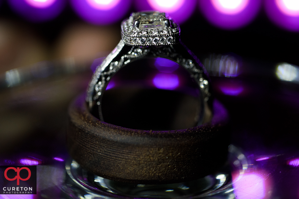 Close up of wedding ring.