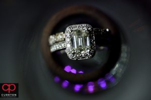 Close up of wedding ring.