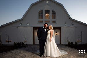 Bride and groom at a Heyward Manor wedding.