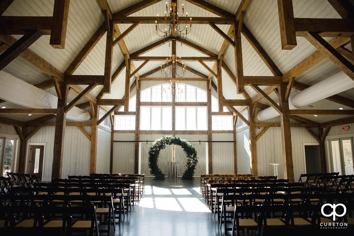 Heyward Manor setup for a wedding.