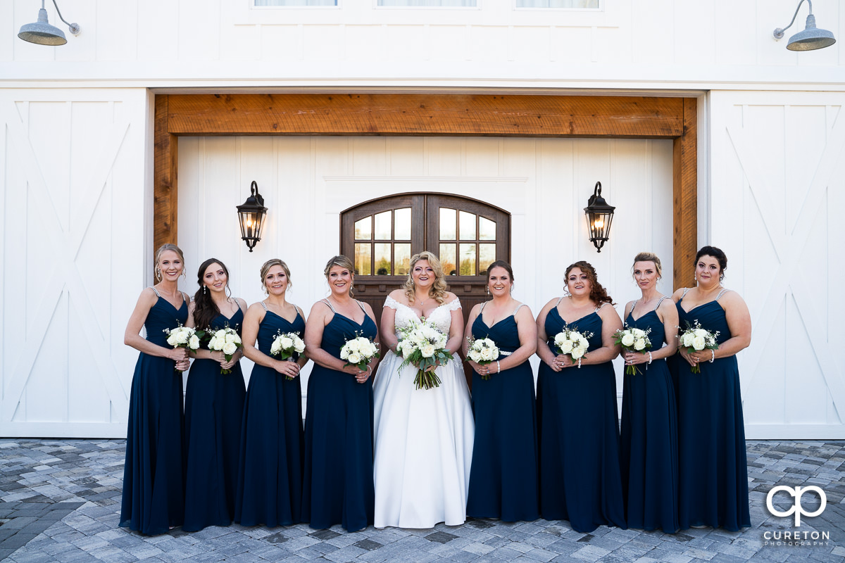 Bride and bridesmaids.