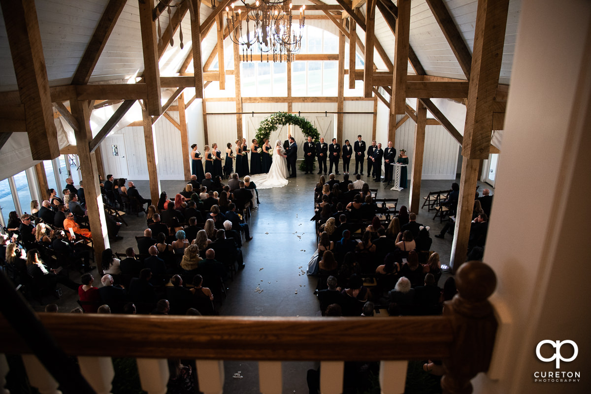 Heyward Manor wedding ceremony.
