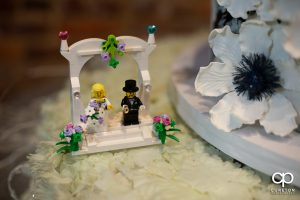 Lego cake decoration.
