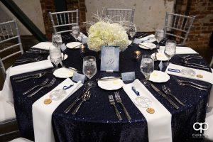 Table at wedding reception.