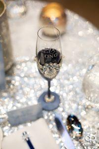 Champagne glasses.