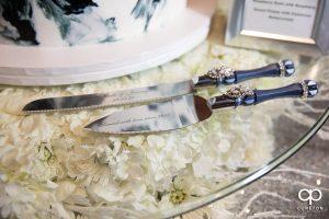 Cake cutting utensils.