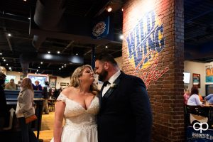 Bride and groom at Wild Wings.
