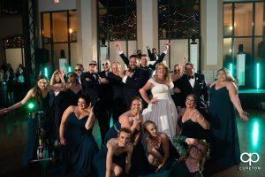 Wedding party on the dance floor.