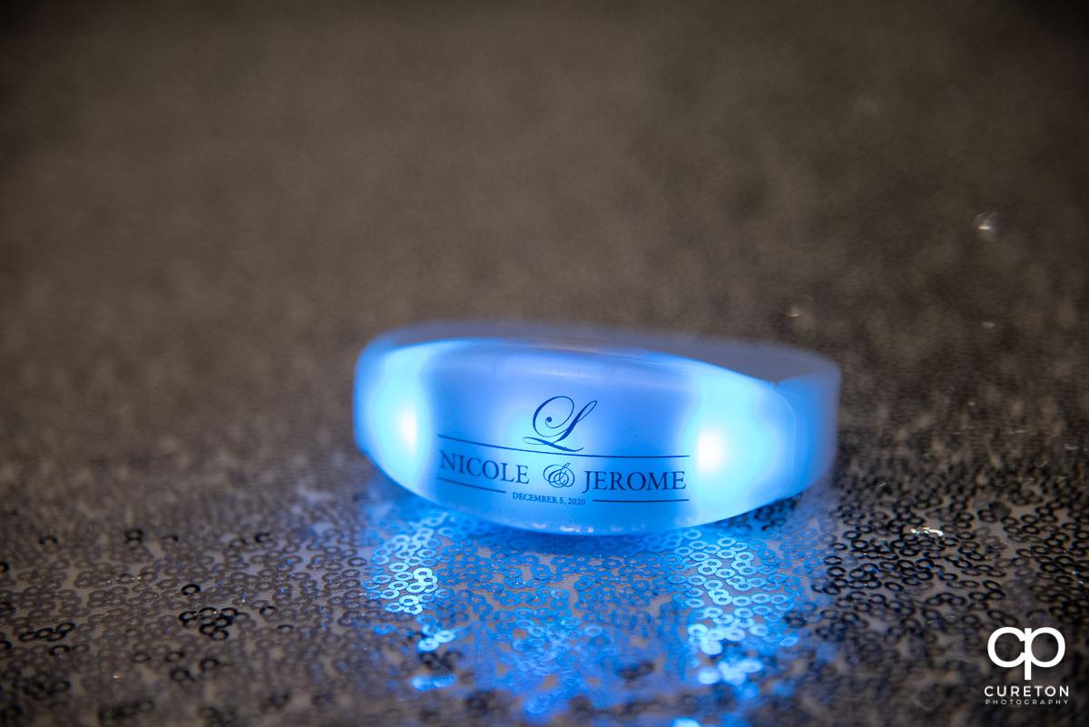 LED bracelet.