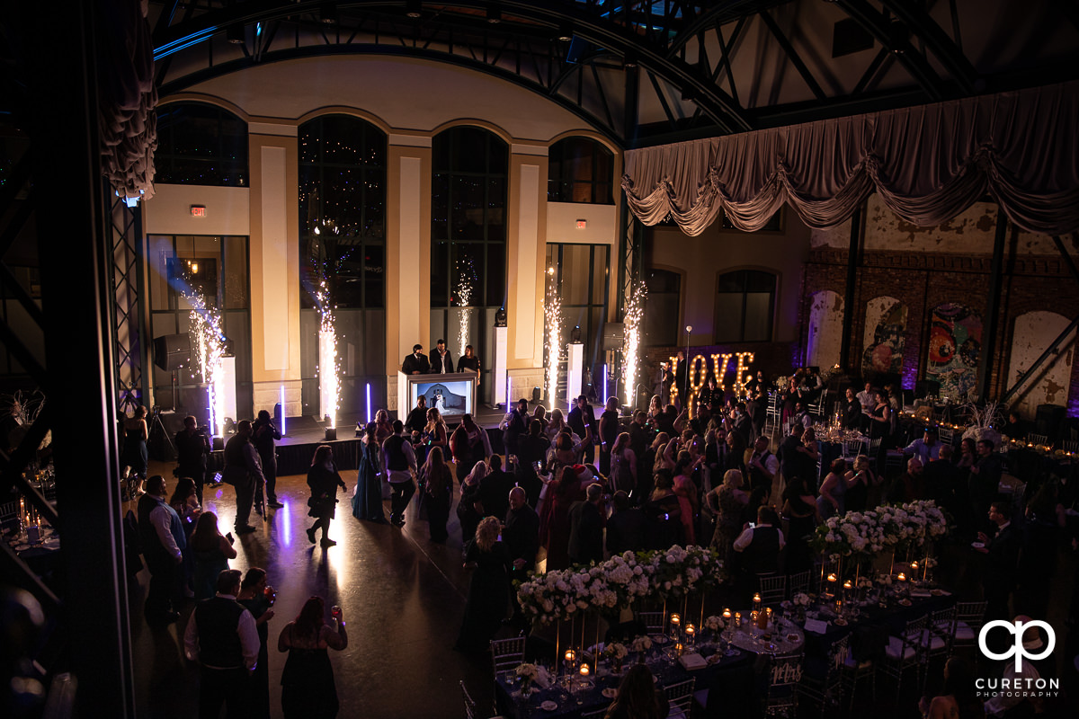 Bleckley Station wedding reception.
