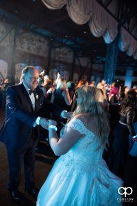Bride dancing with her dad.