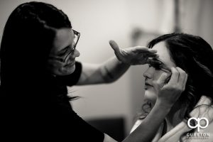 Katie Cotton from Greenville,SC bridal makeup artist team Cotton Rouge and Co.