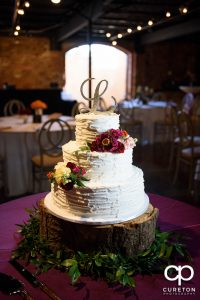 Beautiful wedding cake by Holly's Cakes.
