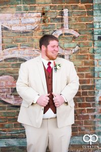 The groom before the wedding.
