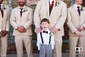 Ring Bearer with the groomsmen.