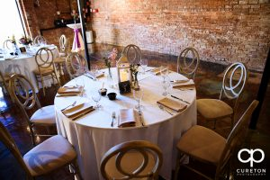 Tablescape at Old Cigar Warehouse.