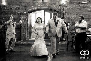 Bride and Groom entrance.