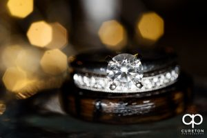 Close up of the wedding ring.
