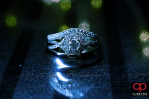 Creative wedding ring shot.