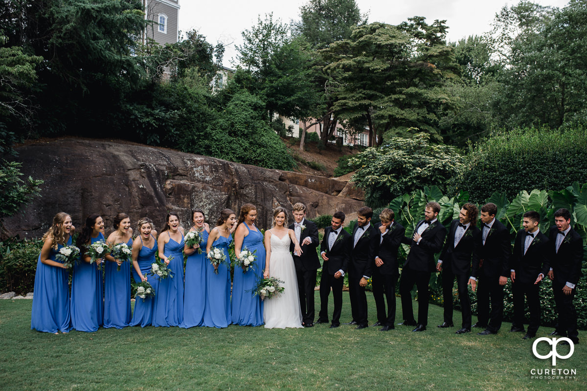 Wedding Party at the ROck Quarry Garden.