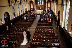 St. Mary's Catholic church wedding ceremony.