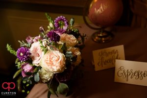 Beautiful flowers at the Westin Poinsett wedding planned by Clink Events.