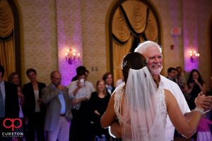 Bride and her father sharing a dance.