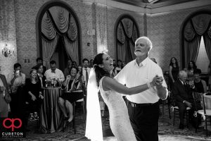 Bride and her father dancing at the reception.