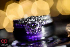 Close up wedding ring photo.