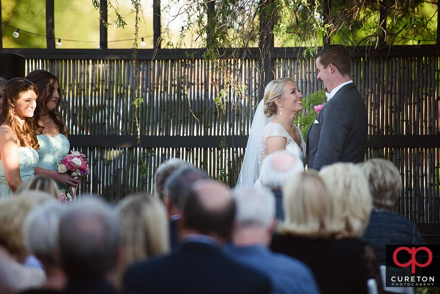 Outdoor wedding at Zen Greenville.